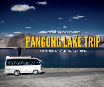 minibus, pangong lake, travel diaries, rookie, road trip